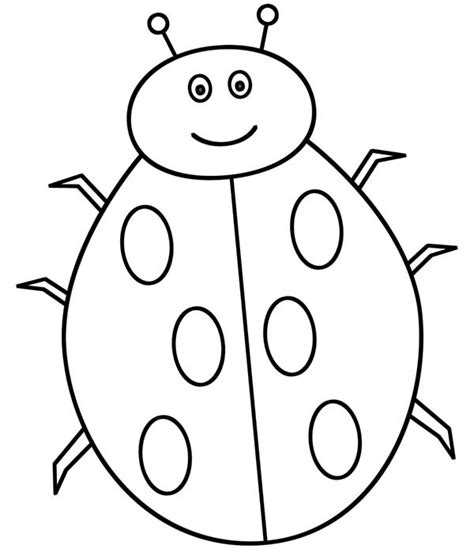 Ladybug Pictures To Color by Bug Coloring Pages Clipart Best