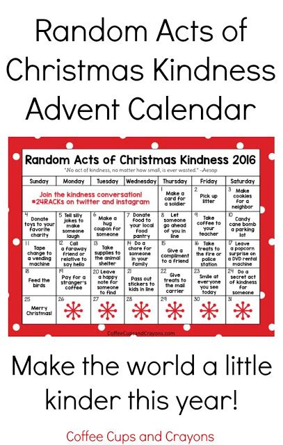 printable kindness calendar mhct m christmas traditions a glimpse inside