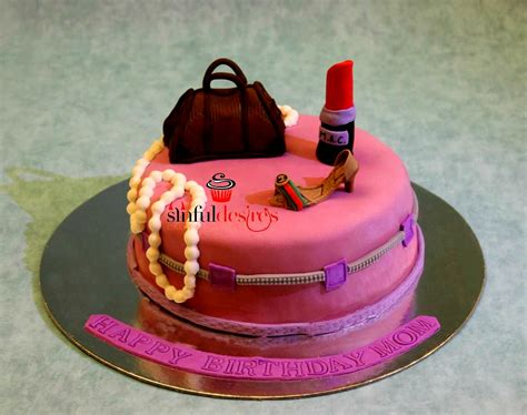 makeup themed birthday cake birthday cake