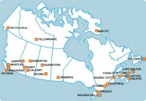 traveling and major cities canada