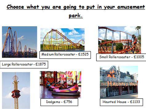 theme park ks2 primary number teaching resources partitioning tes