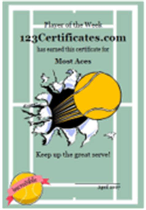 tennis gift certificate template tennis certificates and tennis award templates