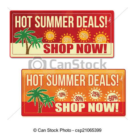 red hot vouchers hot summer deals coupon voucher tag red and orange