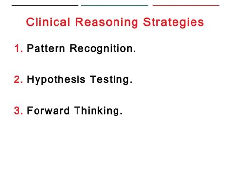 pattern recognition clinical reasoning facilitation of clinical reasoning during bedside teaching
