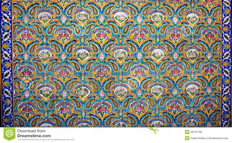 Painting On Ceramic Tile Craft by Vintage Colorful Floral Pattern And Oriental Ornament On The Ceramic Tiles Of The Old Royal