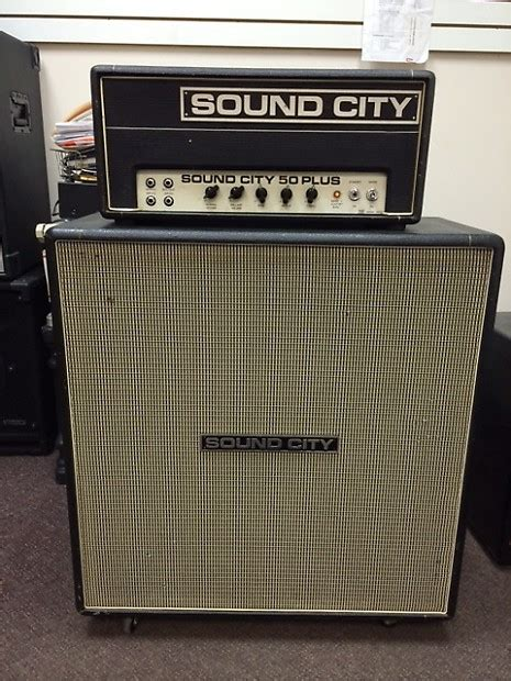 70s cabinets sound city 50 plus and matching 2x12 cabinet late 60s