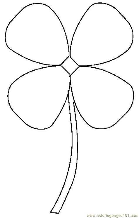 4 H Clover Coloring Pages by Clover Coloring Page Http Printablecolouringpages Co Uk
