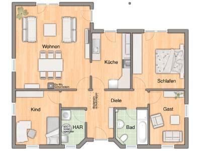 Begehbarer Kleiderschrank Bauen 730 wohnkomfort im bungalow 128 haus bauen auf einer ebene