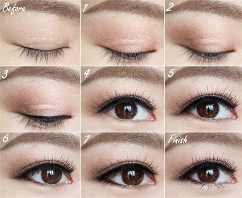eyeliner tutorial for double eyelids 17 best images about asian eyeshadow on pinterest
