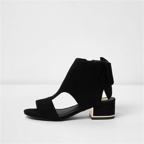 black cut out bow back shoe boots shoes footwear