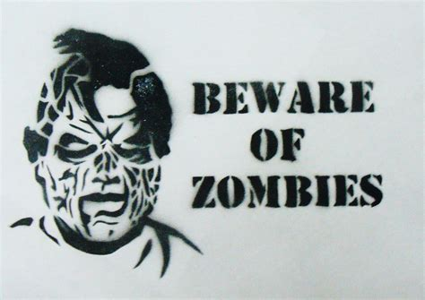 printable zombie stencils beware of zombies stencil by gordorca on deviantart
