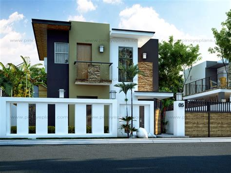 philippine house design two storey modern house plan