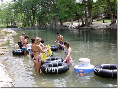 Floating The Guadalupe River Cabins by Andy S River Toobs Guadalupe River Tubing Rentals