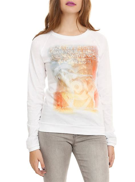 Hoodie Pullover All Time Low Pcs 1 all time low with a wolf pullover top