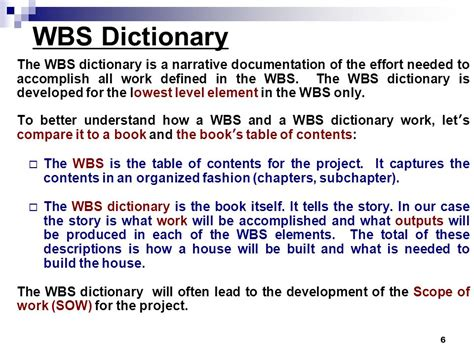 wbs dictionary template wbs construction of house exle wbs dictionary ppt