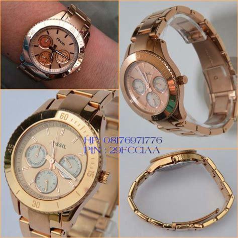 Jam Tangan Wanita Original Fossil Stela Plated Es2859 jam tangan original fossil es2859 katalog jam wanita