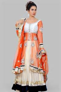 jacket style orange and gold lehenga by secret wardrobe