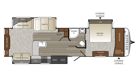 outback travel trailer floor plans 2017 keystone outback 326rl cer ebay