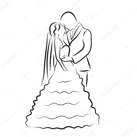 braut zeichnung silhouette der braut und br 228 utigam brautpaar skizze hand