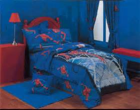 Attractive spiderman theme bedroom decorate designs for kids boys