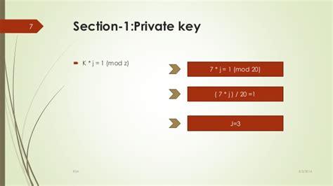 rsa section rsa algorithm