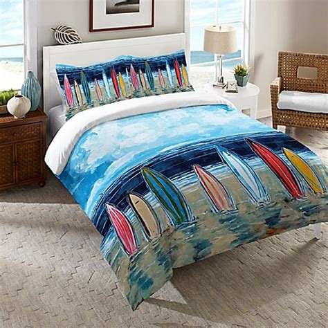 bed bath and beyond maui laural home 174 surfboards comforter in blue buybuy baby