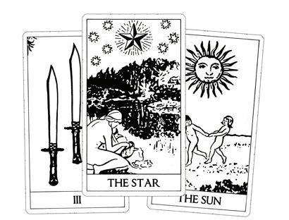 printable tarot cards black and white tarot decks to print
