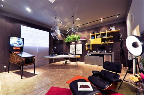 awesome home office awesome home office with pinball machine decor interior