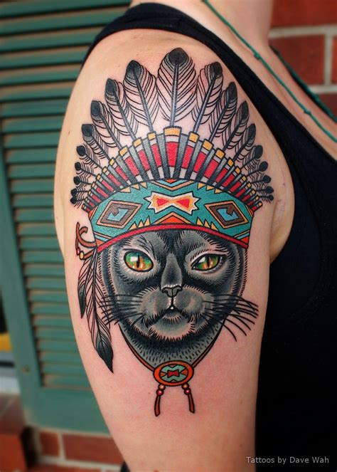 tattoo shops baltimore lindsay s cat with indian headdress tattoos