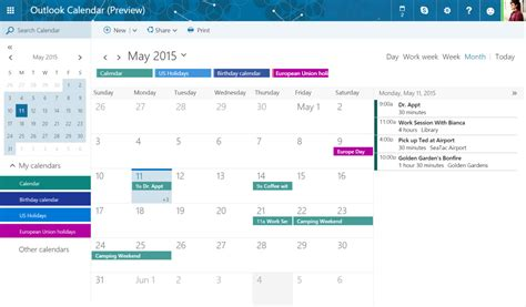 Calendario W Microsoft Is Overhauling Outlook With A New Look And