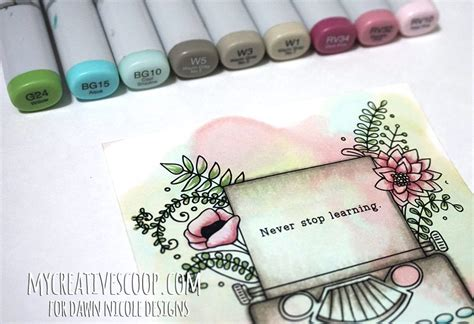 how to water color how to watercolor using copic markers