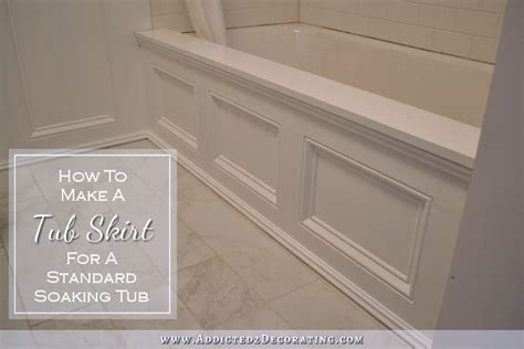 how to build in a bathtub diy tub skirt decorative side panel for a standard apron side soaking tub
