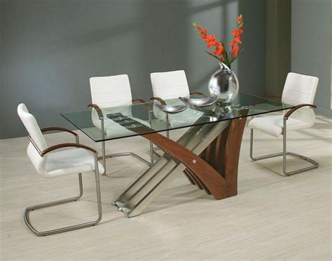Modern Dining Table Ideas 39 Modern Glass Dining Room Table Ideas Table Decorating Ideas
