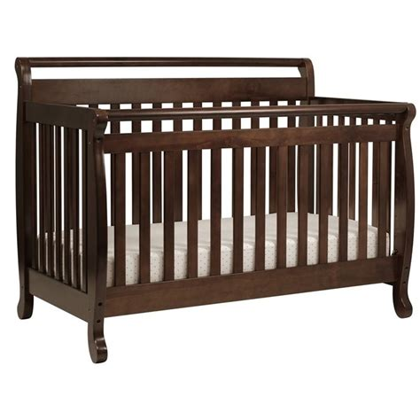 Wood Convertible Cribs Davinci Emily 4 In 1 Convertible Wood Baby Crib In Espresso M4791q