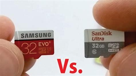 Microsd Sandisk 32gb Class 10 Speed Up To 48 Mb S samsung evo 32gb vs sandisk ultra 32gb class 10 micro sd card speed test comparison