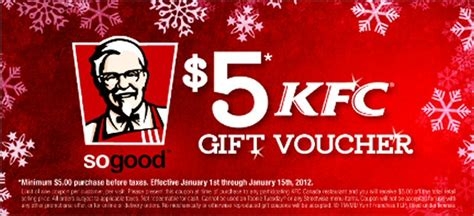 Kentucky Fried Chicken Gift Cards - 50 kfc gift card giveaway coolcanucks canadian coupons contests deals and freebies