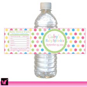 personalized water bottle labels baby shower polka dots water bottle label birthday baby