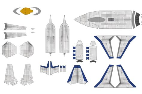 Free Papercraft Downloads - gradius papercraftsquare free papercraft