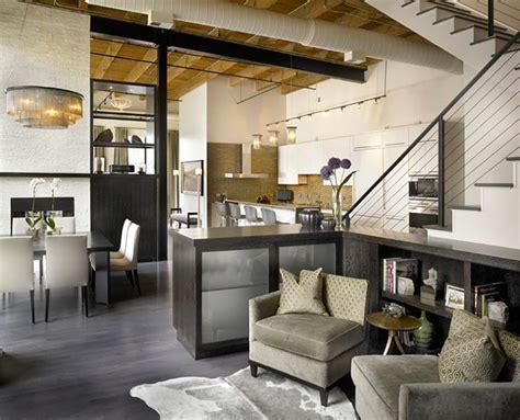 Loft Kitchen Living Room Style Industriel Pour Un Loft Moderne De Ville Design Feria