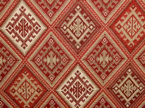 kilim material for upholstery brockhall designs kilim weave chenille red ivory fabric