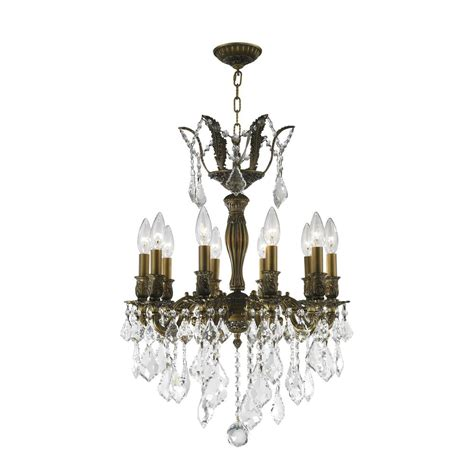 Versailles Chandelier Worldwide Lighting Versailles Collection 10 Light Antique Bronze Chandelier With Clear