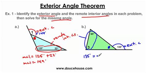 Remote Interior Angles Definition by Exterior Angle Theorem
