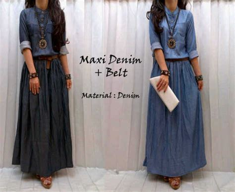Maxi Venuzuella Fit L Maxi Denim Belt Bahan Katun Denim Allsize Fit To L