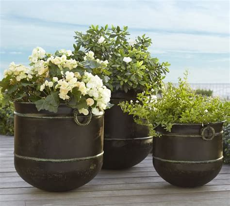 pottery barn planters talmont planter pottery barn