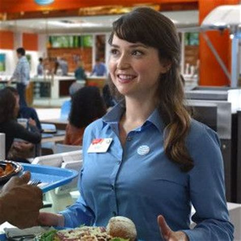 lily from att commercial girl milana vayntrub plays lily on the at t commercials grins