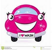 Royalty Free Stock Photography Cute Pink Car Wash Image