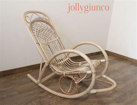 sedia a dondolo vimini produzione sede a dondolo in bambu e rattan