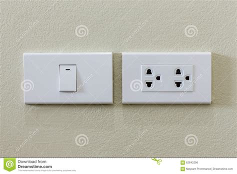 light switch and electrical outlet stock photo image