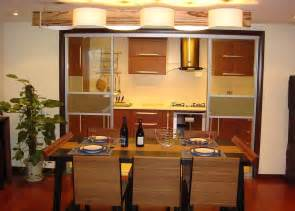 Small Kitchen Dining Room Decorating Ideas Small Dining Room Design With Wood Partition 3d House