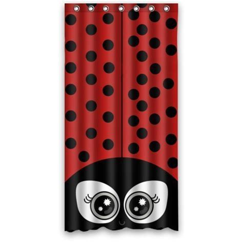 ladybug shower curtain ladybug shower curtains in standard size or extra long styles